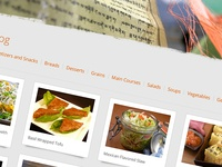 Partial of food blog section
