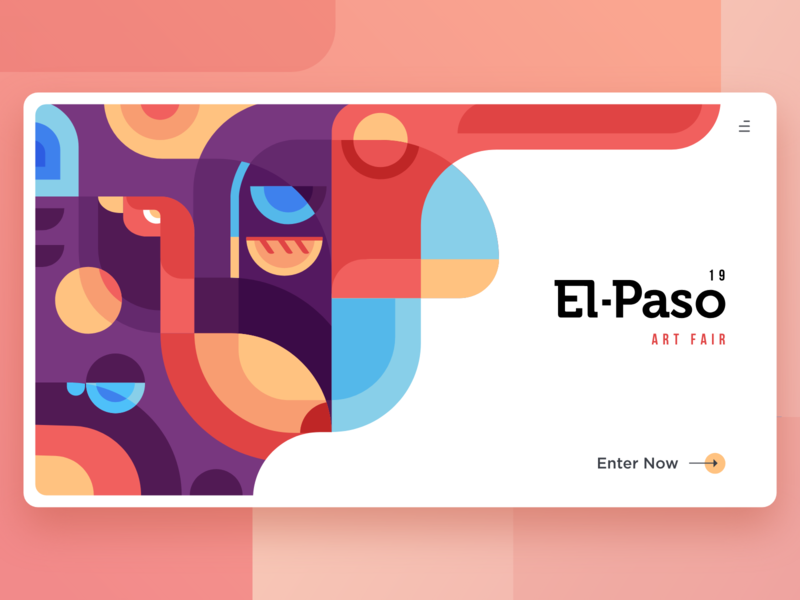 El Paso Art Fair heo image banner bird nature violet red pattern abstract design inspiration illustration website ui ux interaction uiux