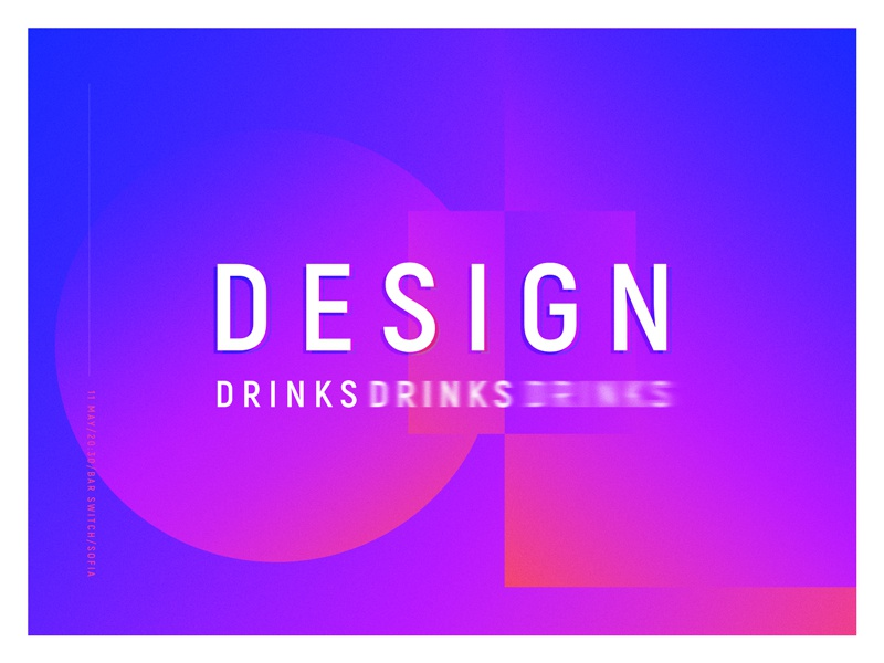 Design Drinks Meetup shapes gradients meetup design