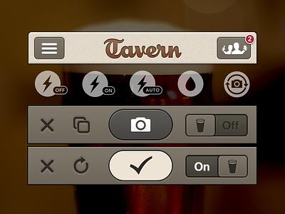 Tavern UI Elements ios mobile beer craft beer