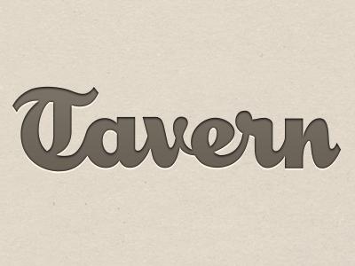 Tavern Branding Final logo branding brand lettering type typography beer social iphone