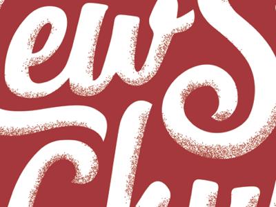 Screenprint Concept lettering script newspring clothing shirt