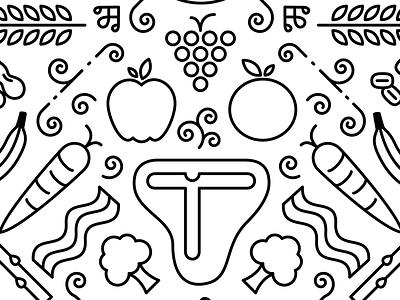 Monkey Face? line art clover