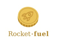 3D Rocket-fuel logo
