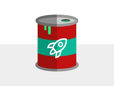 Rocket Fuel Oil Drum fuel space rocketmakers icon design flat illustration flat design