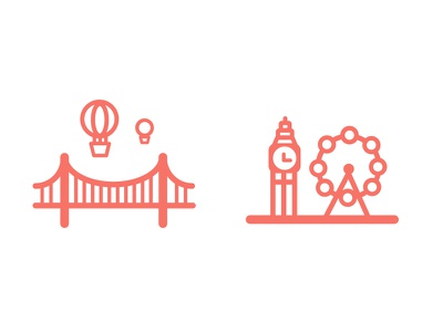 City Icons for Bristol & London flat icons bristol london city icons custom icons