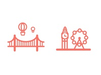 City Icons for Bristol & London