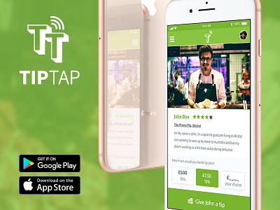TIP TAP Branding & UI Design app design flat design branding ui design