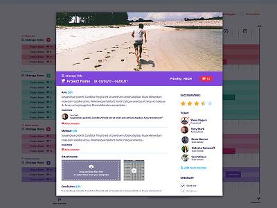 On-track Project modal flat design minimal design project app design modal