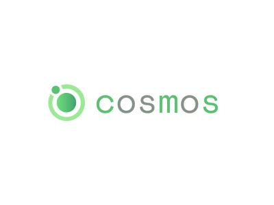 Cosmos V2 Logo Concept lower case sans serif space green logo flat design
