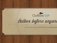 Outbox VIP ticket