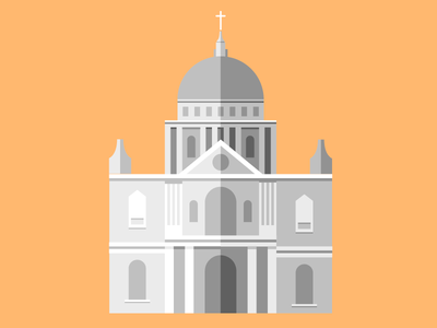 St. Pauls Church shadows design challenge illustration building church