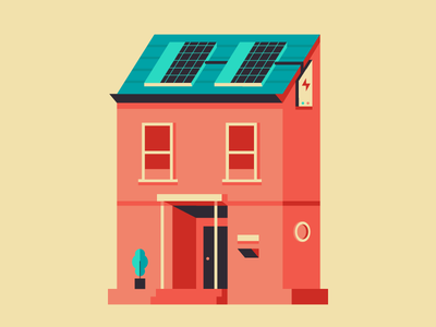 Solar Power windows electric sun house colors design illustration weekly challenge
