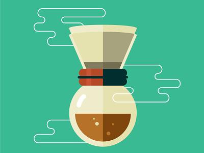 Weekly challenge: #6 Chemistry awake beans illustration flat design roast chemex coffee