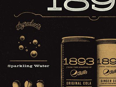 Soft Drink Poster vintage texture design type illustration sode