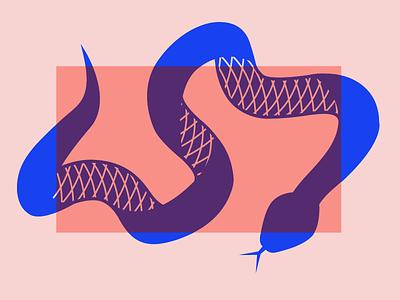 Snake Time design color minimal flat snake illustration