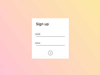01 - Sign Up dailyui ux ui web