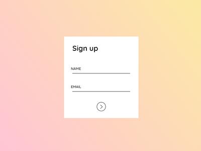 01 - Sign Up dailyui ux ui web