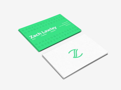 Zach Lawley Business Card master mix record music logo business card