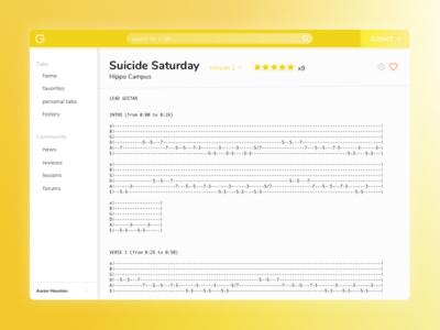 Ultimate Guitar Redesign - Tab View