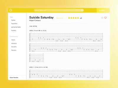Ultimate Guitar Redesign - Tab View redesign tab guitar