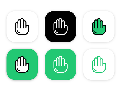 Commeth Logo icon app logo come hand