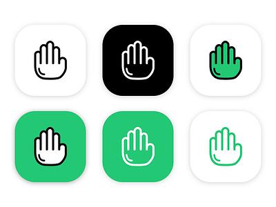 Commeth Logo icon app logo come hand