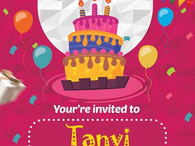 Invited invitation card birthday