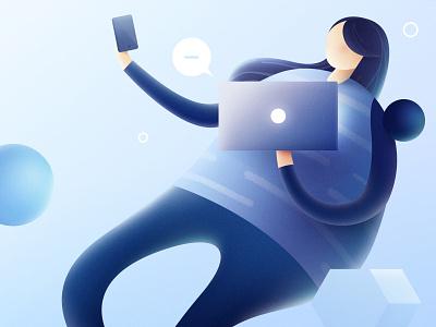 My Profile people rendering illustration