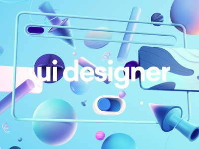 Job Ad Series: UI Designer post process illustration photoshop rendering 3d