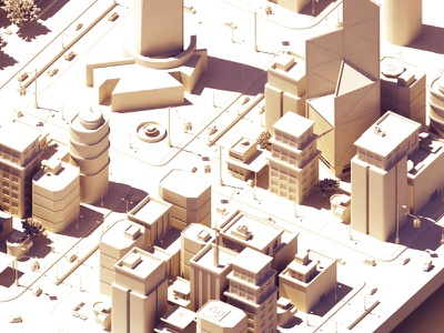 Biggest Render to Date: WIP rendering low poly map 3d