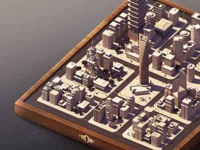 Almost there... but not quite photoshop rendering isometric 3d map