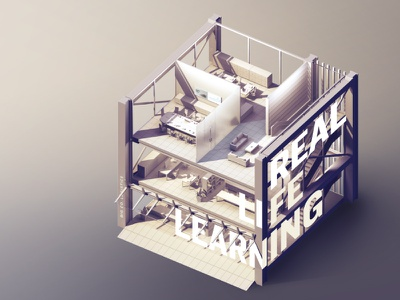 Real Life Learning photoshop rendering building isometric 3d