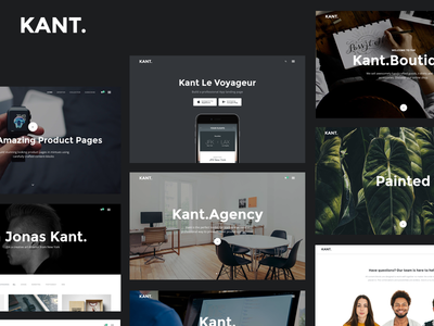 Kant - A Multipurpose Template For Startups And Freelancers
