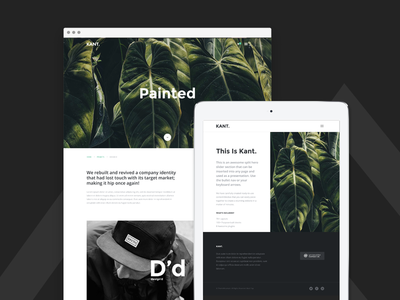 Kant - Multipurpose Template - Project Pages