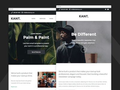 Kant - Responsive Email for Startups - Agency Alt & Ecommerce
