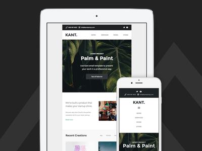 Kant - Responsive Email for Startups - Tablet & Mobile