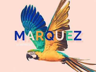 Marquez WordPress Theme Logo logotype typography minimal wordpress