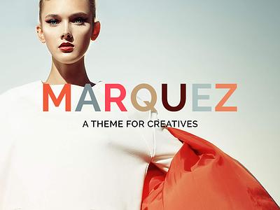 Marquez WordPress Theme Logo Variation wordpress minimal typography logotype