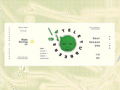 Teletubbeers teletubbies craft beer beer ipa label sour saison bottle brewing gradient serif print