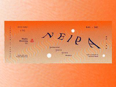 N . E . I . P . A hops haze dot label ipa juice summer fluo orange wave beer craft beer