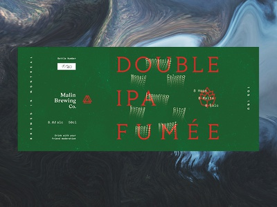 Double IPA fumée eight alcohol green brewery pine brewing smoke malt hops ipa craft beer