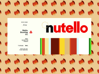 Nutello cream alcohol label nutella hazelnut chocolate malts hops brewery stout brewing beer