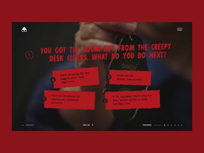 Moose Knuckles - Shady Maple Motel clothe slasher wtf question quiz scary blood horror motel