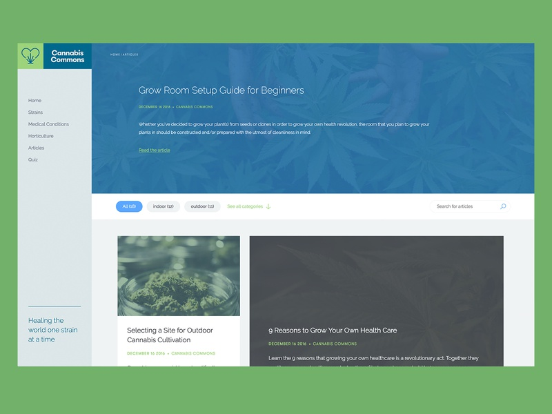 Cannabis Commons - Blog by Alexis Malin on Dribbble
