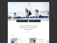 École supérieure de ballet du Québec - Website