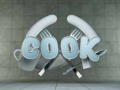 Type Tues - Cook typography type tuesday isometric cr6 cinema4d blocks 3d