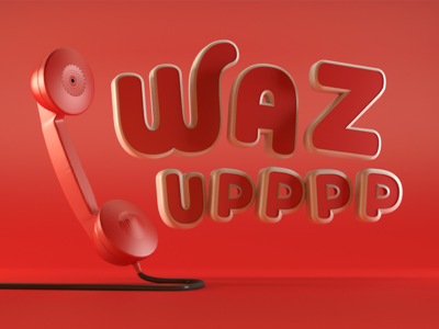 Type Tues - WAZ UPPPP design digital typography type typetuesday cr6 cinema4d blocks 3d