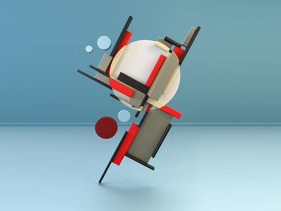 Suprematism & Constructivism 1: Lakov Chernikhov digital art art 3d design cinema4d 3d illustration design