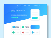 Crypto currency landingspage